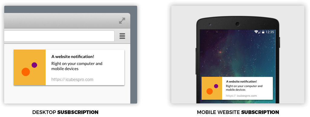 web push notifications example